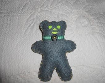 Little grey felt bear.