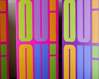 Oui Oui Greetings Card (Purple)'**FREE UK Shipping**MCDL09