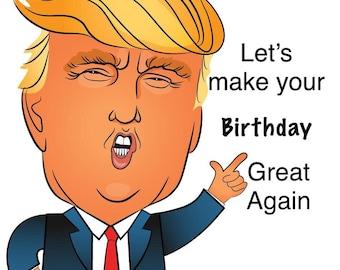 Fuuny Birthday's Card Donald Trump