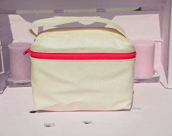 toiletry bag - faux leather vanity