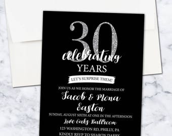 Surprise 30th Anniversary Party, 5x7, Digital Download