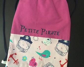 "Kids slippers bag ""little pirate"""