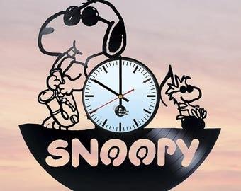 Snoopy Funny Vinyl Record Wall Clock