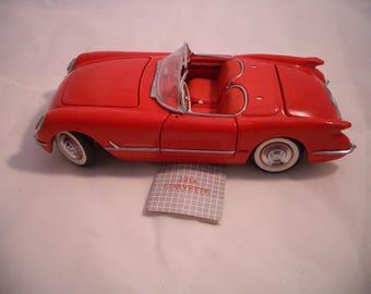 Franklin Mint 1954 Chevrolet Corvette Convertible Roadster Sportsman Red
