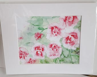 Abstract Flowers Watercolor Print