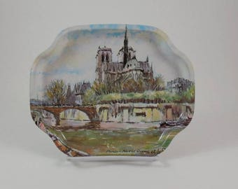Small tin Notre Dame tray - made in England