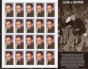 1999 Legends of Hollywood James Cagney (20)Mint-Unused- Scott #3329 Full Sheet