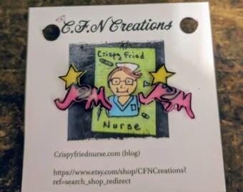 Jem/80's/earrings/cartoon/holograms