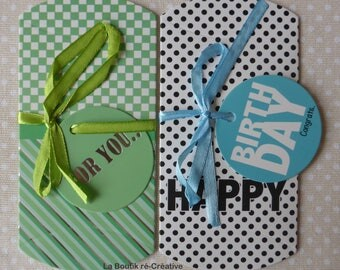 Lot 2 pockets berlingot new Happy Birthday gift box