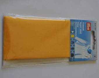 Yellow percale cotton fusible piece for repair prym 929394