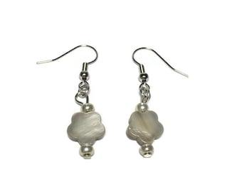 Dyed Mother of Pearl Earrings, drop earrings, under 10, teacher gift, gift fot her, teen girl jewelry, nickel free, pearl jewelry