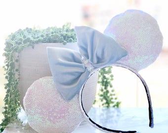 Holophic Velvet Blue Disney Ears
