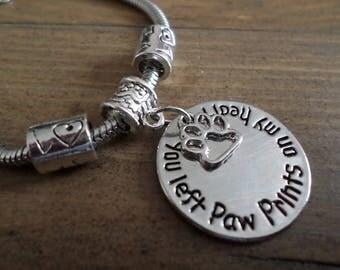 Pet memorial bracelet
