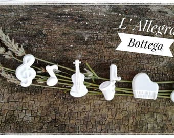 10 Chalks Scented Musical notes