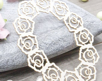 Embellishment frame with roses for Scrapbooking, creative card making, Home decor