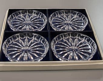 Set of Gotham Glass Crystal Coasters