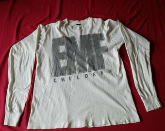 RARE Vintage  90s  EMF Children Live in May England tour  long Sleeve shirt  - Concert T-Shirt