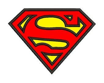 Superman Emblem Applique Design - 3 SIZES