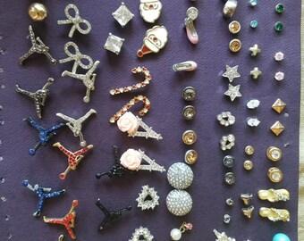 59 pair of vintage stud earrings