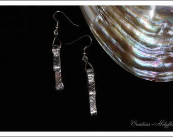 Silver Aluminum, handmade earrings