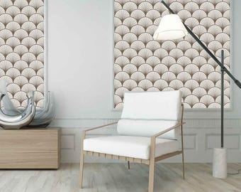 gatsby beige papier peint adh sif repositionnable. Black Bedroom Furniture Sets. Home Design Ideas