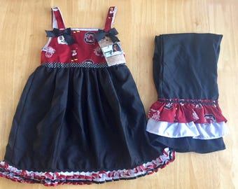 USC Gamecock Top with Ruffle Pants
