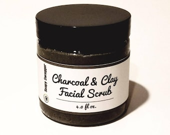Charcoal & Clay Facial Scrub