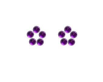 Amethyst Round Rose Cut Faceted Cabochons 3x3, 4x4, 5x5, 6x6 mm 100% Natural/Non-Heated/Non-Treated Gemstones For Designer Jewelry