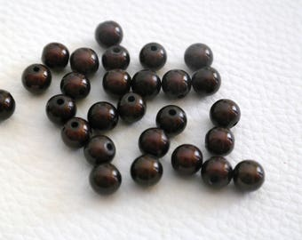 Set of 2 magical 3D 8 mm Brown Miracle beads