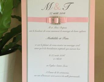 Princess - set of 10 wedding invitations