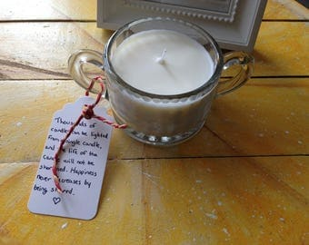 Vintage Glass Handmade Natural Soy Candle