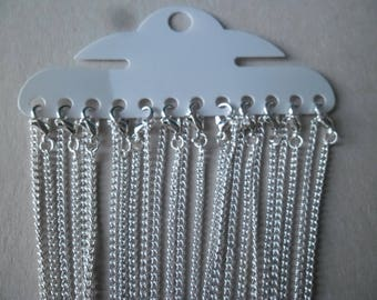x 1 necklace chain with clasp (2 x 3 mm) 41 cm