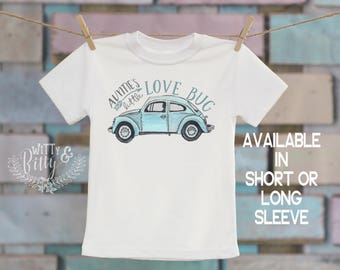 Auntie's Little Love Bug Kids Shirt, Gifts from Auntie, Gifts for Niece, VW Beetle Kids Shirt, Cute Kids Shirt, Boho Kids Shirt - T174A