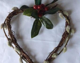 wicker heart wreath(Artificial)