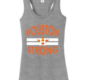 Houston Strong, Texas Strong, Houston Astros Strong, Houston Astros, Ladies Custom Astros Tank, Ladies Custom Tank, Baseball Tank, Tank Top
