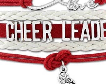Cheer bracelet, cheerleader gift, cheer mom bracelet