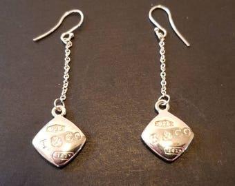 Tiffany & Co. Vintage Sterling Silver Earrings.