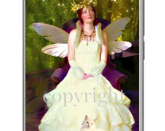 La fée rêveuse fond d'écran pour ipod ou ordinateur création unique sur le thème féerique.