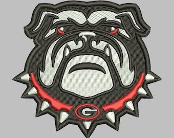 Georgia Bulldogs Embroidery Design 3 Sizes 8 Formats