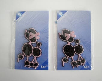 Set of two dogs badges collection