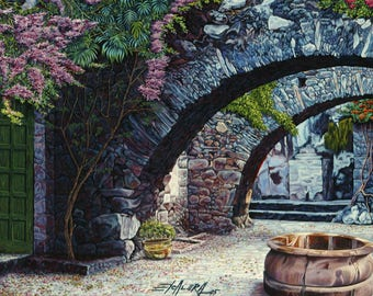 The Well / Giclee On Canvas