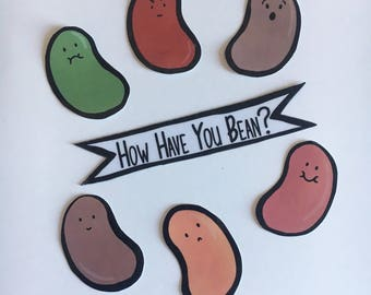 How Have You Bean? Sticker pack (Set of 7)