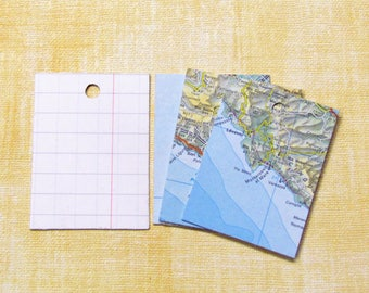 Set 10 tags for gifts themed geographic map.