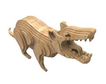 Tasmanian Devil 3D wooden puzzle/model