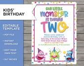 2nd Birthday Invite, DIY ...