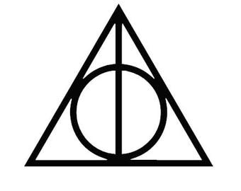 Harry Potter & the Deathly Hollows symbol decal