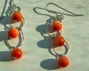 Catseye bead earrings