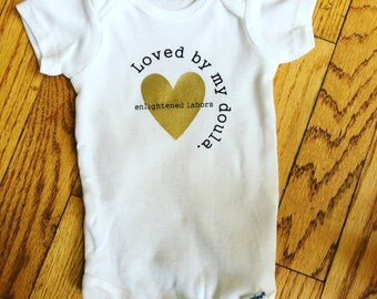 Custom Baby Onesies/ Set Of 8 / Doula Client / Midwife Client / Gift