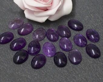 14 x 10 mm: semi precious amethyst CG18 stone cabochon