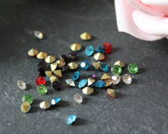 x 30 3.3 to 3.4 mm AP27 multicolor glass rhinestones